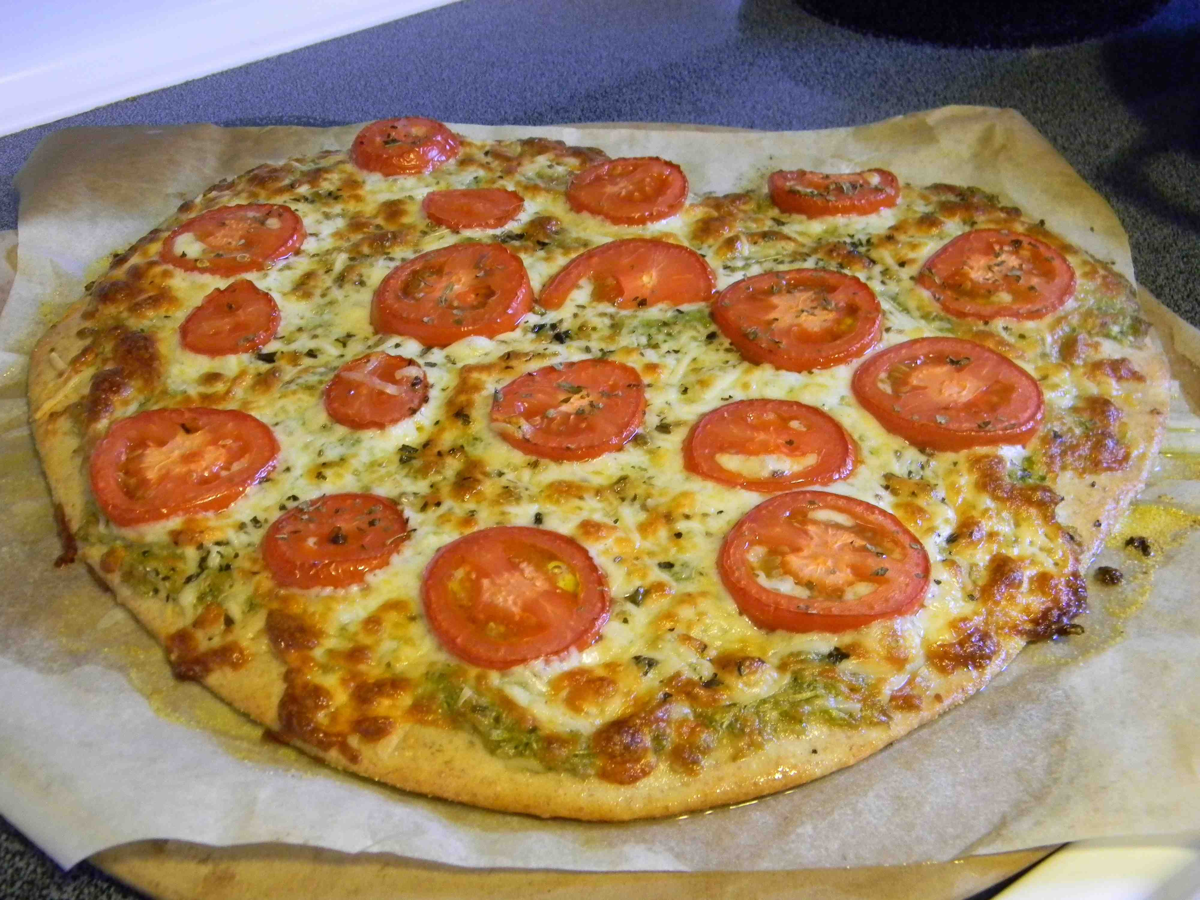 Garlic Scape Pizza