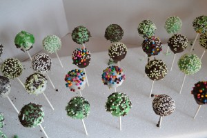 Cake Pops Cooling and Setting in Styrofoam