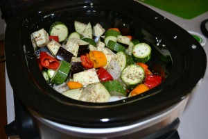 veggies in slow cooker for ratatouille