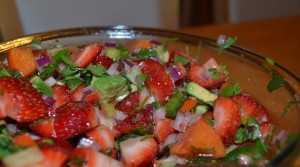 strawberry and persimmon salsa
