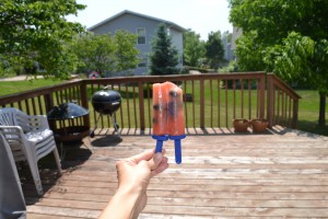 watermelon and blueberry homemade popsicles in their natural state