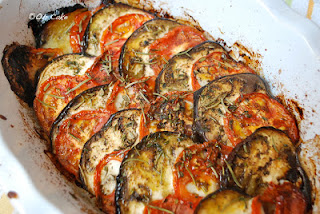roasted eggplant and tomato