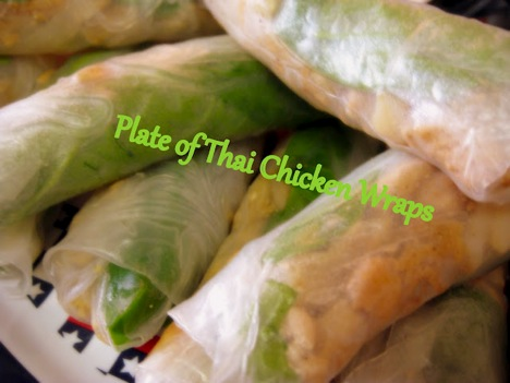 plate of thai wraps