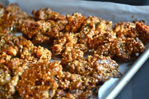 sweet and spicy walnuts