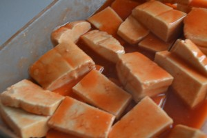 marinating tofu for buffalo wing tong