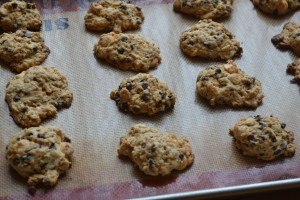Baked Choc Chip Cookies on Sheet1